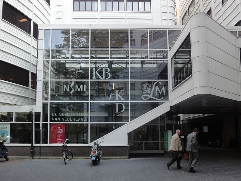 Eingang des Letterkundig Museum bei der Königlichen Bibliothek