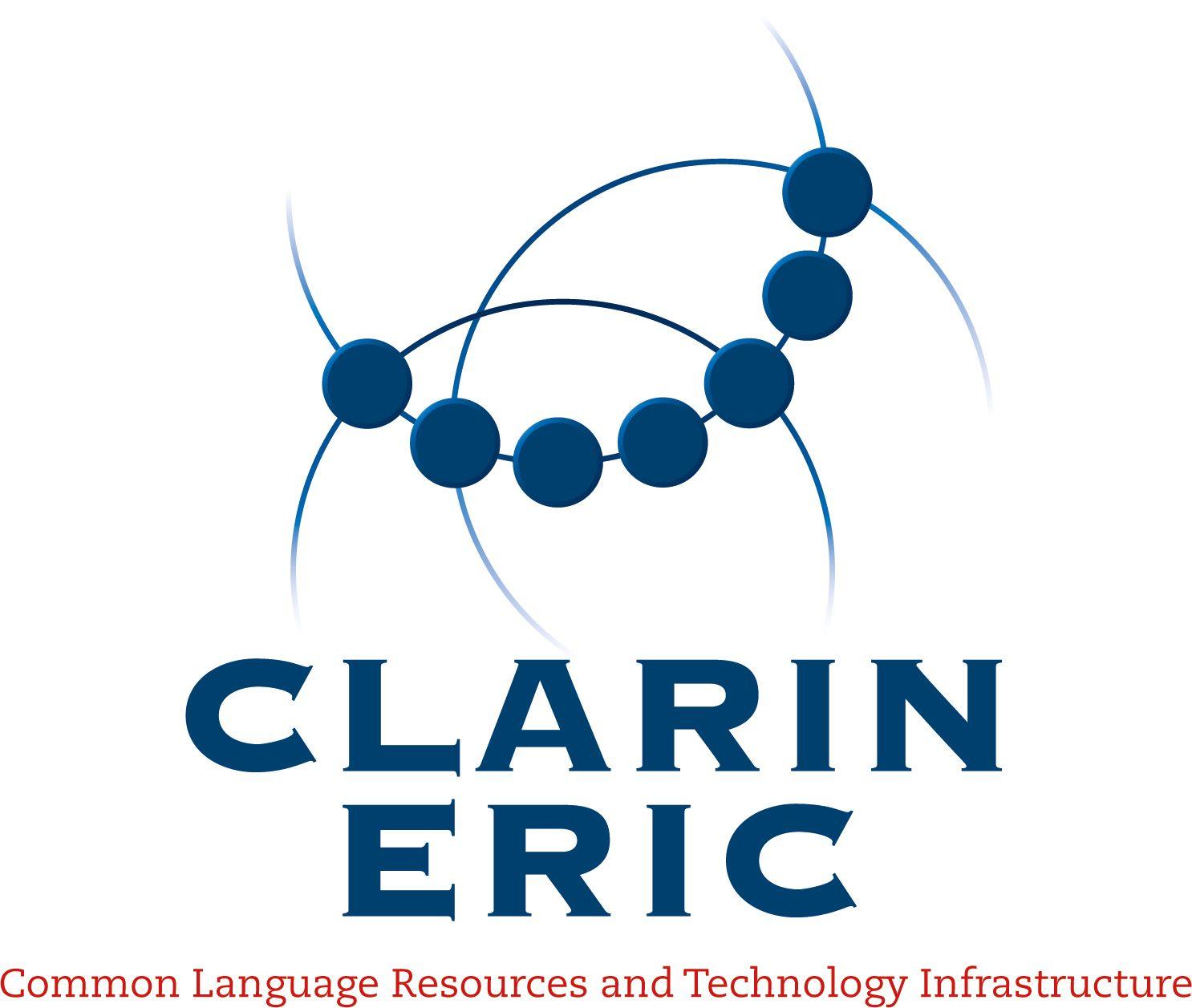 Logo des europäischen Forschungsverbundes CLARIN ERIC