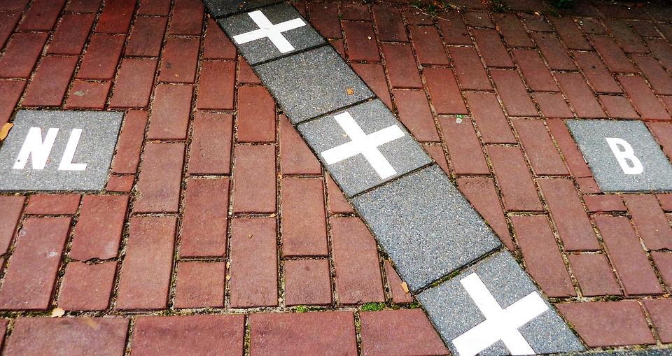 Baarle Straße Grenzverlauf