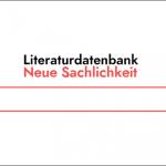 Screenshot Startseite Literaturdatenbank