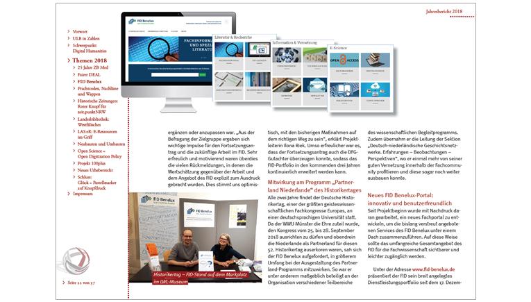 Screenshot Jahresbericht