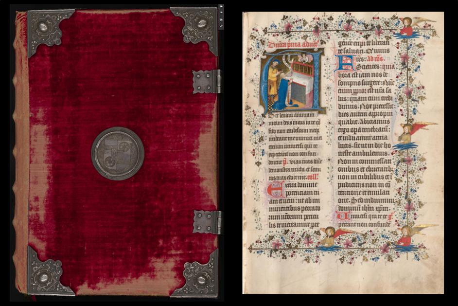 Hoya-Missale: Abbildung Buchdeckel und Seite