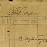 Detail aus dem Sklavenregister