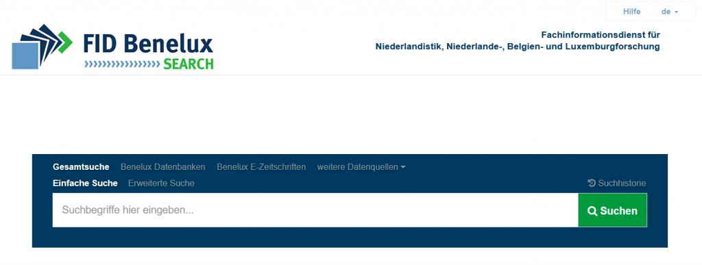 FID Benelux-Search (Screenshot)